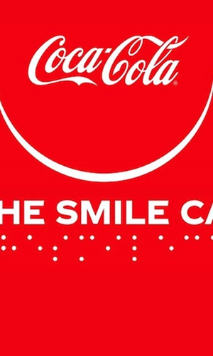 Coca Cola in Braille